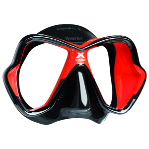X-Vision LiquidSkin Dive Mask, Red/Black