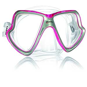 X-Vision Midsize Dive Mask, Pink/Clear