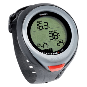 Puck Pro Wrist-Mounted Dive Computer, Black