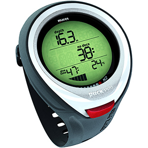 Puck Pro Wrist-Mounted Dive Computer, White