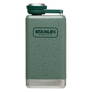 Stainless Steel Adventure Flask, Green, 5oz.