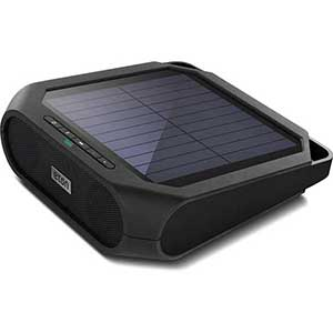 Rugged Rukus Solar-Powered Wireless Bluetooth Speaker—Black