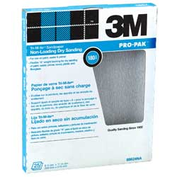 White Fre-Cut Sandpaper (SC) 220A Grit - Per Sheet