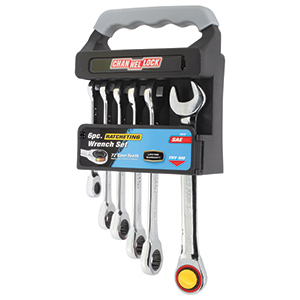 Ratcheting SAE Wrench Set