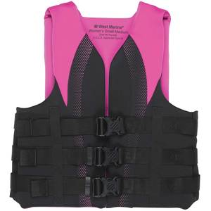 Women's Watersports Life Jackets, Black/Pink