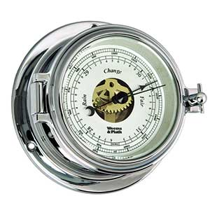 Endurance II 105 Open-Dial Barometer, Chrome