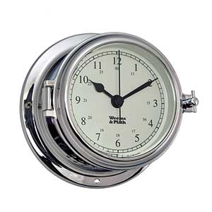 Endurance II 115 Quartz Clock, Chrome