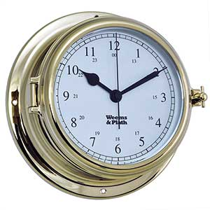 Endurance II 135 Quartz Clock, Brass