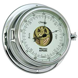 Endurance II 135 Open Dial Barometer, Chrome