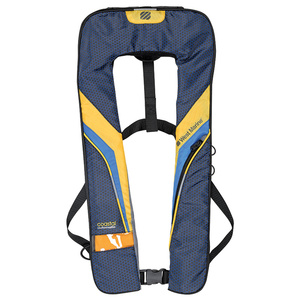 Coastal Automatic Inflatable Life Jacket, Yellow/Dark Gray