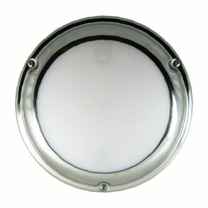 TouchDome - Dome Light, Polished Stainless, White/Red Dimming