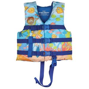 West Marine Kids Under 50lb Snorkel Life Jacket