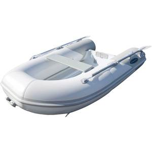 RIB-310 Aluminum Hull Inflatable Boat, White