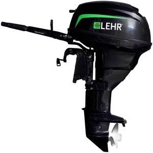 25hp Propane Powered Outboard Engine, Long Shaft, Internal Electric Start, Remote Steering, Power Trim and Tilt