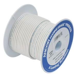 100' 8/2 White Tinned Copper Wire