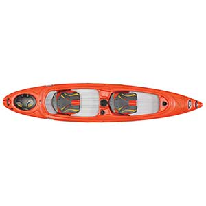 Unison 136T Sit-Inside Tandem Kayak, Red/White