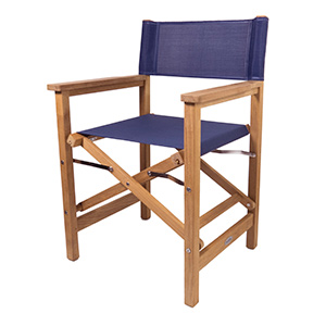Teak Director's Chair, Blue