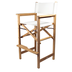 Teak Captain's Chair, White