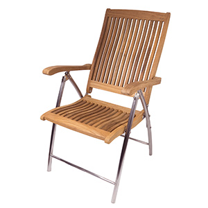 Teak Windrift Folding 6-Position Deck Chair