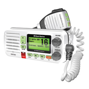 VHF585 Fixed-Mount Submersible VHF Radio, White