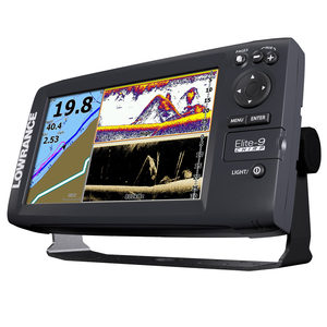Elite-9 CHIRP Fishfinder/Chartplotter, Navionics + Mapping, Medium CHIRP Transducer