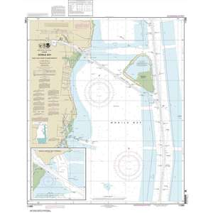 Mobile Bay East Fowl River to Deer River Pt, Mobile Middle Bay Terminal, 30 X 39, Waterproof