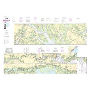 Oceangrafix NOAA Nautical Chart 11518 Intracoastal Waterway Casino Creek to Beaufort River Sale $24.99 SKU: 16304065 ID# 11518 UPC# 857441005312 :