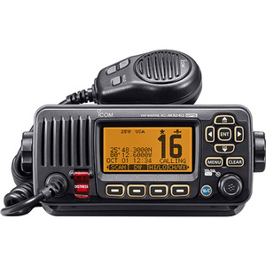 M324G Fixed VHF Radio with GPS Receiver—Black