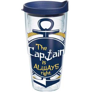 Captain is Always Right Tumbler, 24oz.