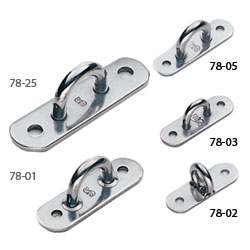 Oblong-Base Stainless-Steel Pad Eyes