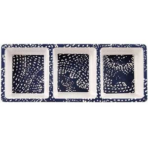 3-Section Dotted Shells Serving Tray