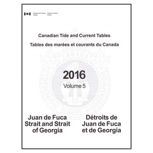Canadian Tide and Current Tables, 2016 Volume 5