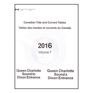 Canadian Tide and Current Tables, 2016 Volume 7