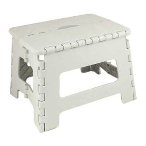 E-Z Folds Step Stool, White