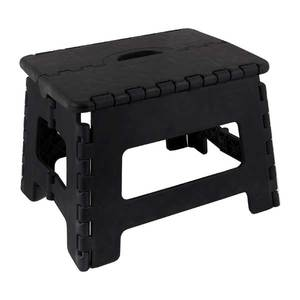 E-Z Folds Step Stool, Black