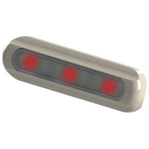 LED Deck Light, Flat Mount, Red