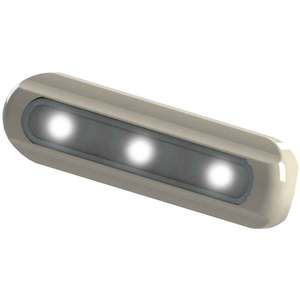 LED Deck Light - Flat Mount, White