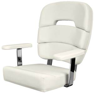 Coastal Helm Chair Standard with Armrests, Off White