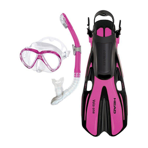Marlin and Volo One Adult Snorkel Set, S/M, Pink