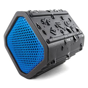 ECOPEBBLE Waterproof Bluetooth Speaker—Blue