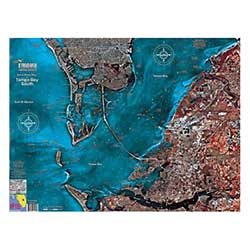 Tampa Bay South Laminated Map