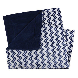 Marlin Blue Zigzag Blanket