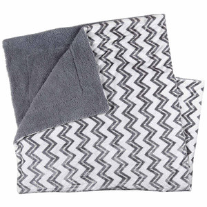 Highrise Grey Zigzag Blanket