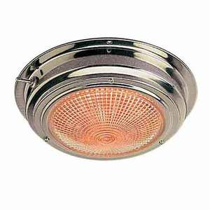 "LED Day/Night Stainless Steel Dome Light, 6-3/4"", 12V"