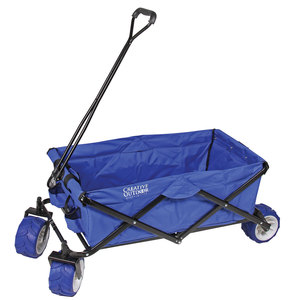 Folding Utility Wagon, Blue