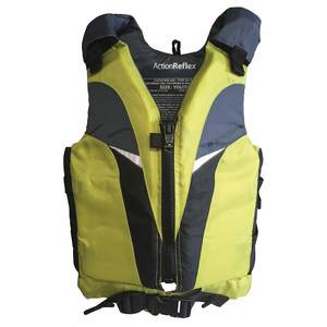 Action Reflex Life Jackets, Green, Youth, 50-90lb.