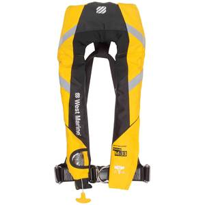 Manual Inflatable Life Jacket with Harness, Yellow
