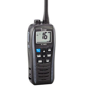M25 Handheld VHF Radio, Black/Metallic Gray