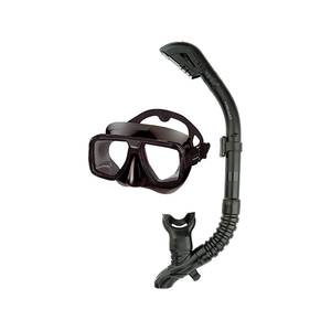 Tarpon 2/ Barracuda Dry Adult Mask Combo, Black