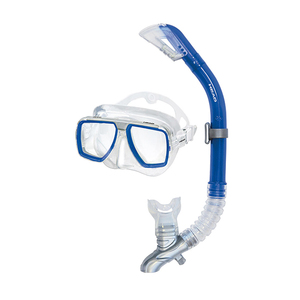 Tarpon 2/ Barracuda Dry Adult Mask Combo, Blue